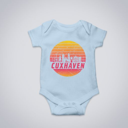 Cuxhaven Skyline orange im Kreis | BabyBody Jungs