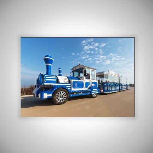 Strandbahn Querformat | 3mm Alu-Dibond-Platte Galerie Print