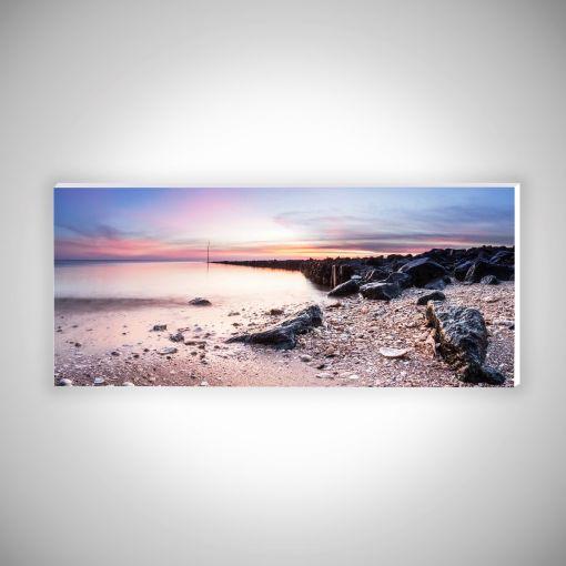 Muscheln im Watt Panorama   Hartschaumplatte 10mm Galerie Print