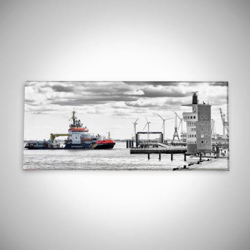 Küstenwache an der Alten Liebe Panorama | Leinwand Galerie Print