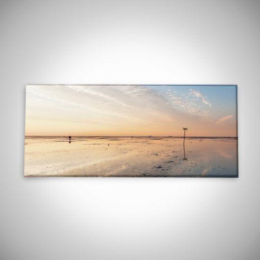 Wattenmeer bei Ebbe Panorama | Galerie Print