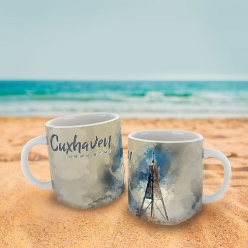 Cuxhaven Aquarell | Tasse