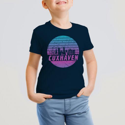 Cuxhaven Skyline violett im Kreis | Kids T-Shirt