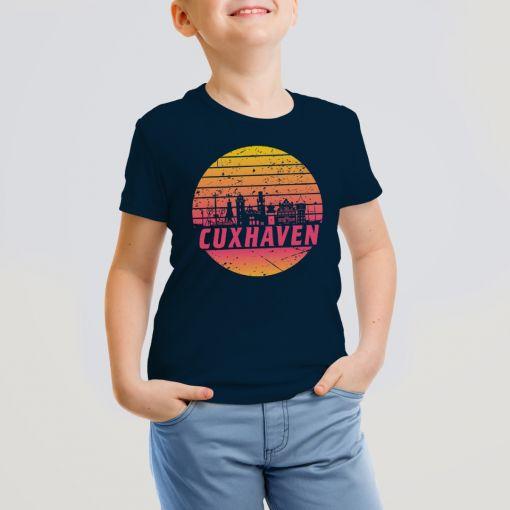 Cuxhaven Skyline orange im Kreis | Kids T-Shirt