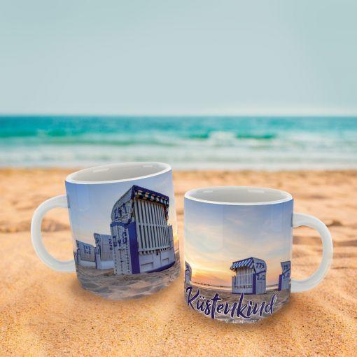 Küstenkind Strandkörbe | Tasse