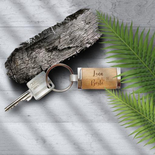 Du bist die Beste Namen | Schlüsselanhänger