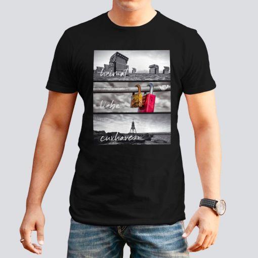 CuxShirt - Motiv: Heimat Liebe Cuxhaven | Herren T-Shirt