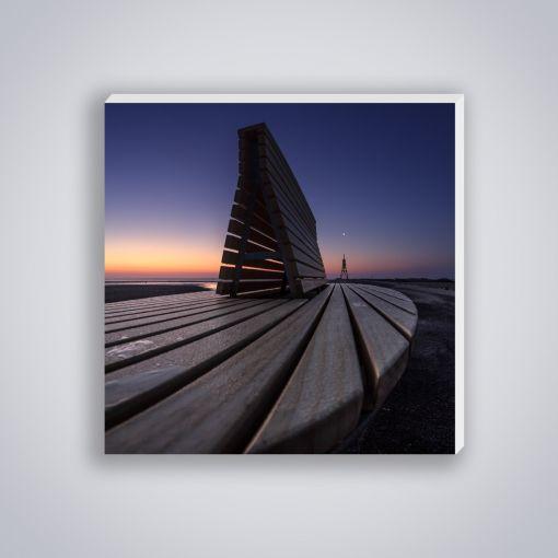 Bank Sonnenuntergang | Mini Galerie Print