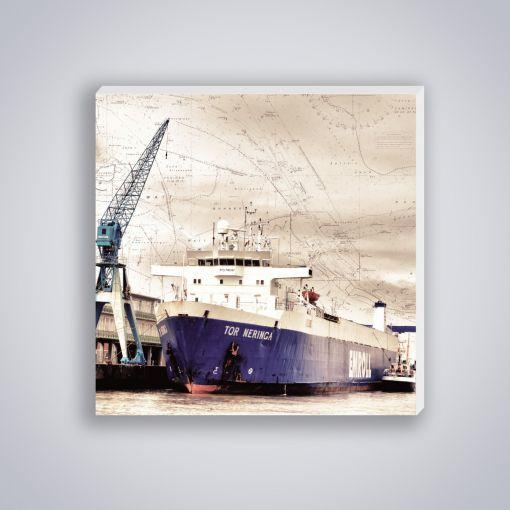 Containerschiff Kran | Mini Galerie Print