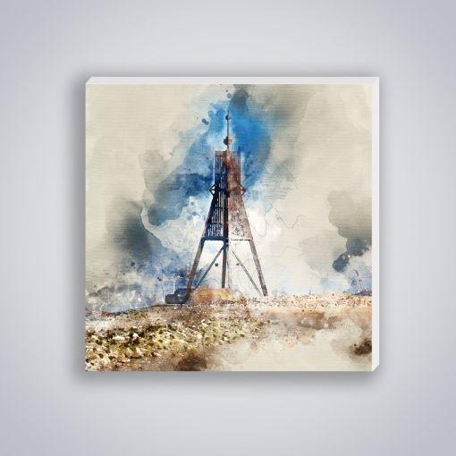 Kugelbake Aquarell | Mini Galerie Print