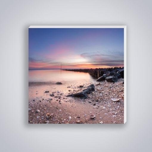 Sonnenuntergang Watt Muscheln | Mini Galerie Print