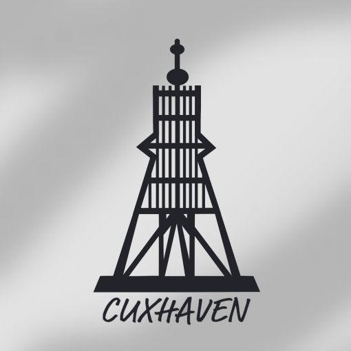 Exklusive Kugelbake Cuxhaven kursiv | Autoaufkleber