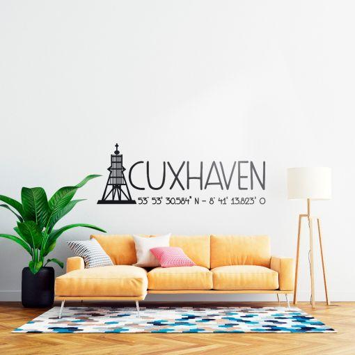 Kugelbake Cuxhaven   Wandtattoo