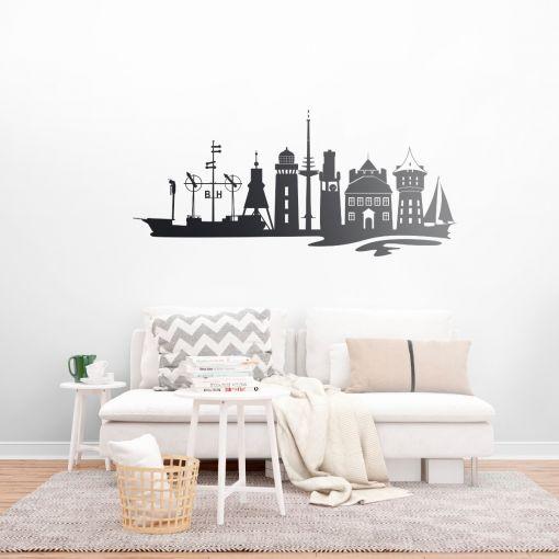 Cuxhaven Skyline   Wandtattoo