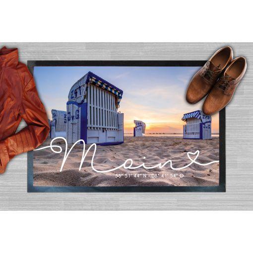 CuxMatte - Motiv: Strandkorb Moin   Fußmatte