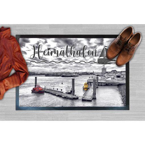 CuxMatte - Motiv: Heimathafen   Fußmatte