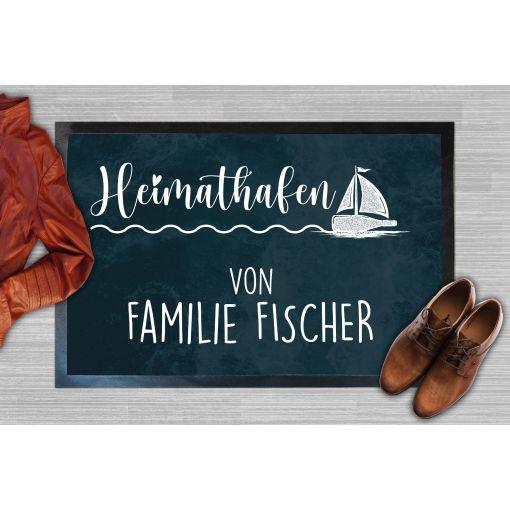 Heimathafen Name | Fußmatte