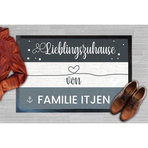 Lieblingszuhause Herz Name | Fußmatte