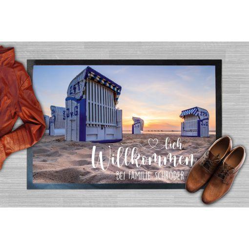 Strandkorb Moin Name | Fußmatte