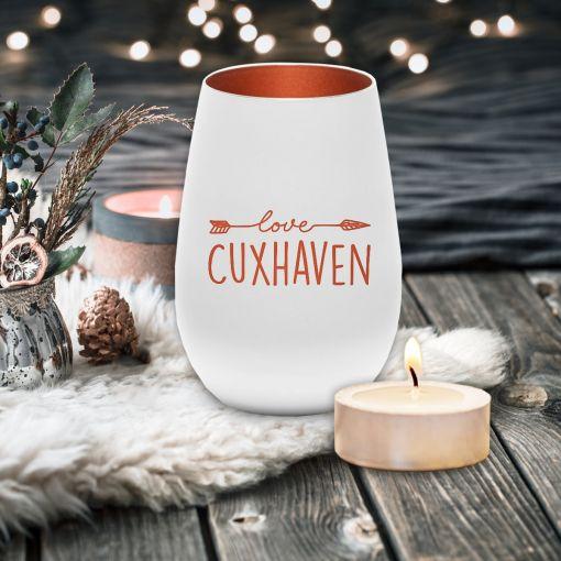 CuxLicht - Motiv: Love Cuxhaven   Windlicht