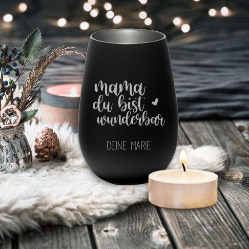CuxLicht - Motiv: Du bist wunderbar mit Wunschnamen | Windlicht