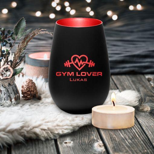 Gym Lover mit Wunschnamen | Windlicht