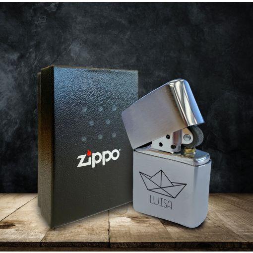 Schiffchen mit Wunschnamen | Zippo