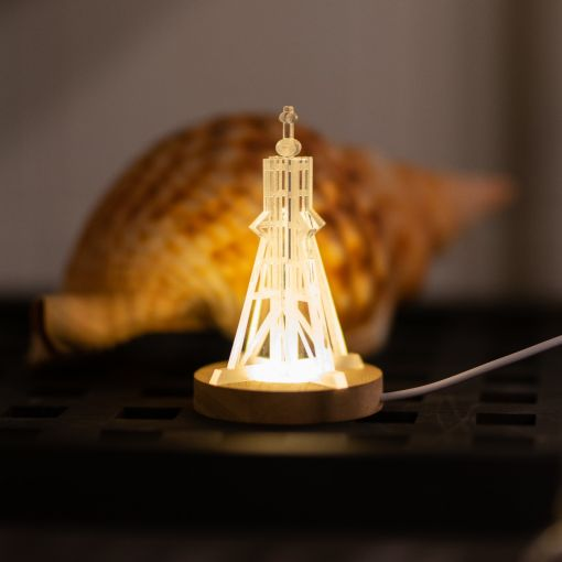 Kugelbake mit Leuchtsockel