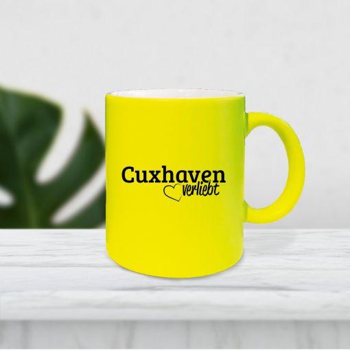 Cuxhaven verliebt | Neontasse