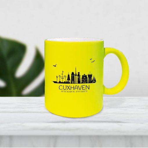 Skyline Koordinaten | Neontasse